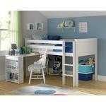 Argos Home Brooklyn Mid Sleeper Bed Frame with Desk - White