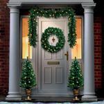 Pre Lit Christmas Door Set