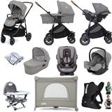 Joie Versatrax (i-Snug + Every Stage) Everything You Need Travel System Bundle with Carrycot - Grey Flannel
