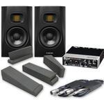 Adam Audio T5V (Pair) + Steinberg UR22MKII Audio Interface, Pads & Leads