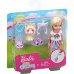 Barbie Club Chelsea Dress-Up Doll with Pet and Accessories - Rainbow Skirt