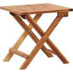 Folding Garden Coffee Table 40x40x40 cm Solid Acacia Wood