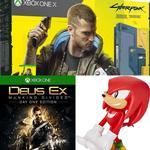 Microsoft Xbox One X 1TB - Cyberpunk 2077 Edition, Deus Ex: Mankind Divided - Day One Edition & Sonic the Hedgehog Knuckles Cable Guy
