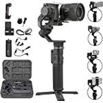 FeiyuTech G6 Max 3-Axis Handheld Gimbal Stabilizer for Light Mirrorless Camera like Sony a7,RX100 series,Action Camera Gopro,Smart phone iPhone 11 Pro Max,1.2Kg Payload,Splash Proof
