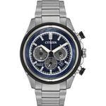 Mens Citizen Super Titanium Titanium Chronograph Eco-Drive Watch CA4240-82L