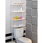 Keraiz F2-E9PZ-UOM1 4 Tier Kitchen Bathroom Storage Shower Caddy Shelf Shelves Unit Adjustable Height No Screws Required, White