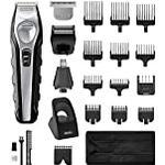 Wahl Beard Trimmer Men, Total Groom 4-in-1 Hair Trimmers for Men, Nose Hair Trimmer for Men, Stubble Trimmer, Male Grooming Set, Body Trimmer for Men, Washable Heads