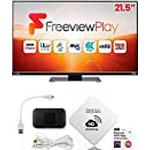 """AVTEX 219DSFVP 21.5 Inch TV with KUMA Wifi Booster & Router Kit for Motorhome Caravan - 12v 24v 240v 21.5"""" LED Television HD Freeview & 4G SIM Internet Wireless Pocket Hotspot Wi-Fi with Antenna"""