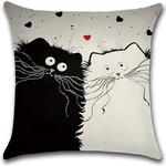 Cartoon Cat Hug Pillowcase Cushion Cover Home Linen Cushion Cover Bags Home Car Decor