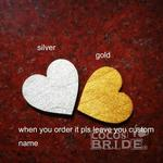 Personalized Heart Wedding Cake Toppers | Bridelily