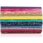Womens Kurt Geiger London Party Enveloperainbow Acrylic Clutch Bag