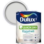 Dulux Quick dry Polished pebble Eggshell Metal & wood paint 0.75L