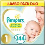 Pampers Premium Protection Softest Nappies Size 1 Jumbo Pack 144