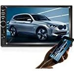 Double Din Car GPS Navigation Stereo, 7 inch Quad-Core Android 8.1 Touch Screen in Dash Navigation Car Radio Video Player with Bluetooth GPS WiFi Mirror Link Backup Camera