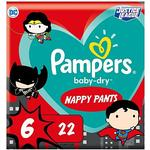 Pampers Baby-Dry Superhero Nappy Pants Size 6, 22 Nappies, 15kg+