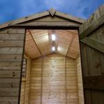 Garden sheds Outbuildings Solartech Premium Garden Building Solar Lighting Kit 3 - Suitable for Apex Roofed Sheds up to 4m x 3.5m (14 x 12')
