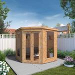 7 by 7 summerhouse Outbuildings Mercia Premium Corner Summerhouse -7' x 7'