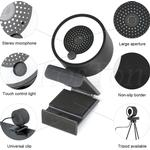 60FPS Autofocus Webcam 1080P 2K HD Web Camera for PC Laptop Computer with Microphone Ring Light Tripod web cam for Steam OBS