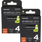 Panasonic Eneloop Pro AA HR6 2500mAh Rechargeable Batteries   8 Pack
