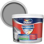 Dulux Weathershield All weather protection Concrete grey Smooth Matt Masonry paint 10L