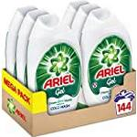 Ariel Washing Gel Original 24 Washes, Cleans Brilliantly Even In Cold Wash, 888 ml, Pack of 6