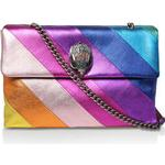 Womens Kurt Geiger London Leather Xxl Kensingtonlarge Rainbow Stripe Shoulder Bag