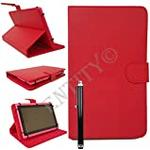 """ENTITY®: RED 9.5"""" - 10.1"""" Universal Faux Leather Stand Flip Case Cover For All 9.5 to 10.1"""" inch Tab Andriod Tablet PC/Apad Mid Netbook/Galaxy Tab 2 Tab 3 & Tab 4 / Tab Pro/iPad 2/3/4, iPad Air"""