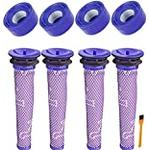 Honfa Filters Compatibale with Dyson V7 V8 Animal Absolute Cordless Vacuum Cleaner Replace Part# DY-96566101, DY-96747801(2 Post Motor Filter V6 & 2 Pre HEPA Filters)
