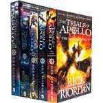 Rick Riordan Trials of Apollo Series 5 Books Collection Set