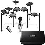 Alesis Nitro Mesh Kit + Strike Amp 12 | Eight Piece Electronic Drum Kit with 385 Sounds, 60 Play-Along Tracks + 2000-W Ultra-Portable Powered Drum Speaker with 12-Inch Woofer