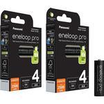 Panasonic Eneloop Pro AA NiMH 2500mAh Rechargeable Batteries - 8 Pack