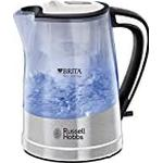 Russell Hobbs 22851 Plastic Brita Filter Purity Kettle, 3000 W, 1 L – Transparent by Russell Hobbs