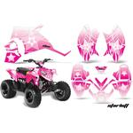 AMR Racing Decal Graphic Kit Quad Wrap STARLETT PINK Polaris Outlaw 90 | Outlaw 110