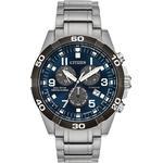 Mens Citizen Eco-drive Super Titanium Perpetual Calendar Alarm Titanium Watch