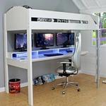 Noah Gaming High Sleeper 2 - White & Lilac