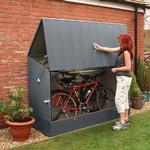 Bike shed Outbuildings 6'4 x 2'9 Trimetals Ramped Metal Bike Shed - Anthracite (1.95m x 0.88m)