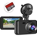 """Dash Cam with SD Card Included FHD 1080P Dash Cams for Cars Dash Cameras Record Dash Cam with Night Vision, 170°Wide Angle 3""""IPS Screen Dashcam Loop Recording G-sensor Motion Detection Parking Monitor"""