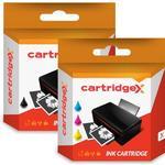 Compatible Black & Colour Ink Cartridge For Hp 350 & 351 Photosmart D5368