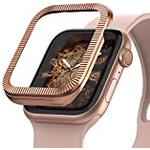 Ringke Bezel Styling Designed for Apple Watch Series 6/5 / 4 / SE 40mm, Stainless Steel Adhesive Full Frame Stylish Cover for iWatch Series 6/5/4/SE - AW4-40-43