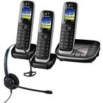 Panasonic KX-TGJ323EB Trio Cordless Phones with Corded Headset