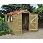 Forest Garden Apex Tongue & Groove Pressure Treated 8 x 6 Wooden Garden Shed