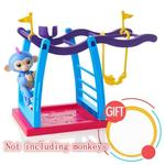 Funny fingerling baby monkey movement support for finger monkey sports climbing frame action figure juguetes kids toys - Swing y