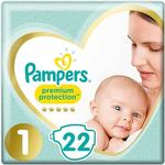Pampers Premium Protection 22 New Baby Nappies - Size 1 (2-5 kg)