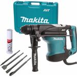 Makita HR3210C 110V 32mm SDS Plus Rotary Hammer Drill with 4 Piece Chisel Set