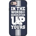 In The Words Of My Generation Up Yours Phone Case from LookHUMAN
