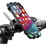 Tec-Digi Bike Phone Mount, 360°Rotatable Adjustable Universal Silicone Motorcycle Phone Mount Bicycle GPS Units Holder, Compatible with iPhone 11 Pro Max/X/XS MAX/XR/8/8 Plus, Samsung S20/S10/S10e