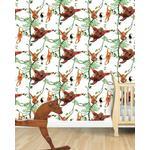 Swinging Orangutans Child's Wallpaper