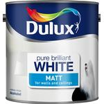 Dulux brilliant white Home Accessories Dulux Matt Pure Brilliant White Paint - 2.5L