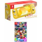Nintendo Switch Lite Yellow with Mario Kart 8 Deluxe for Switch