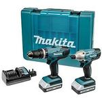 Makita 18v battery Power Tools Makita 18V-Volt G Series Combi Drill And Impact Driver Kit Complete With 2 X Li-Ion Batteries